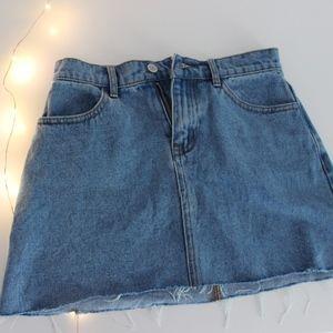 Brandy Melville Denim Mini Skirt
